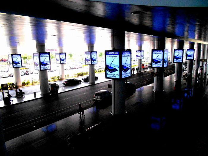 Architecture Built Structure Empty Hanoi Airport Hanoi Vietnam  Illuminated Indoors  Night No People Samsungphotography Subway Station Transportation