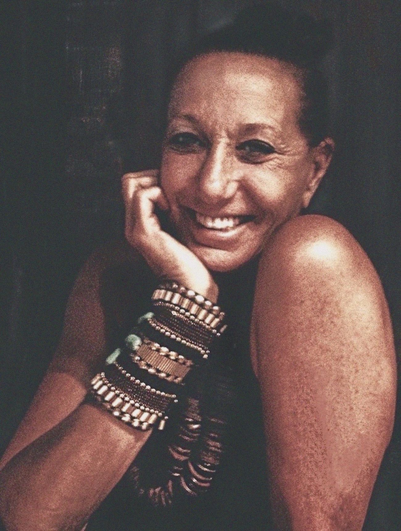 Donna Karan / NYC Fashion Designer Celebrity Portraiture DKNY DonnaKaranNY Bracelets- Handmade Necklace Smiling Style Icon Female Entreprenuer Canon Impromptu Portrait  The Portraitist - 2016 EyeEm Awards