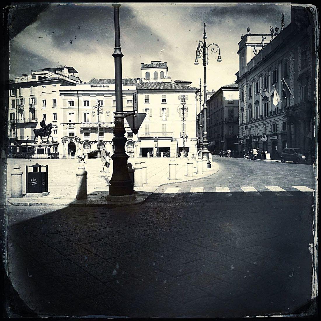 Piacenza Blackandwhite Piazza Cavalli