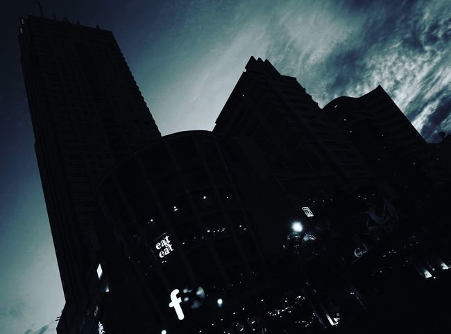 Silent night of Jakarta First Eyeem Photo Nightphotography Sony A6000 Built Structure Cold Diagonal Contrast Sonyalpha Sony Building Contruction Sky