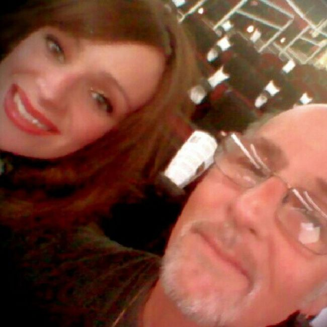 """Me n my Dad at the """"Q"""" for the Scott Hamilton Ice Show =)"""