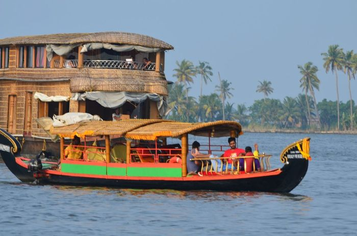 Boat Backwaters Colorful Travel