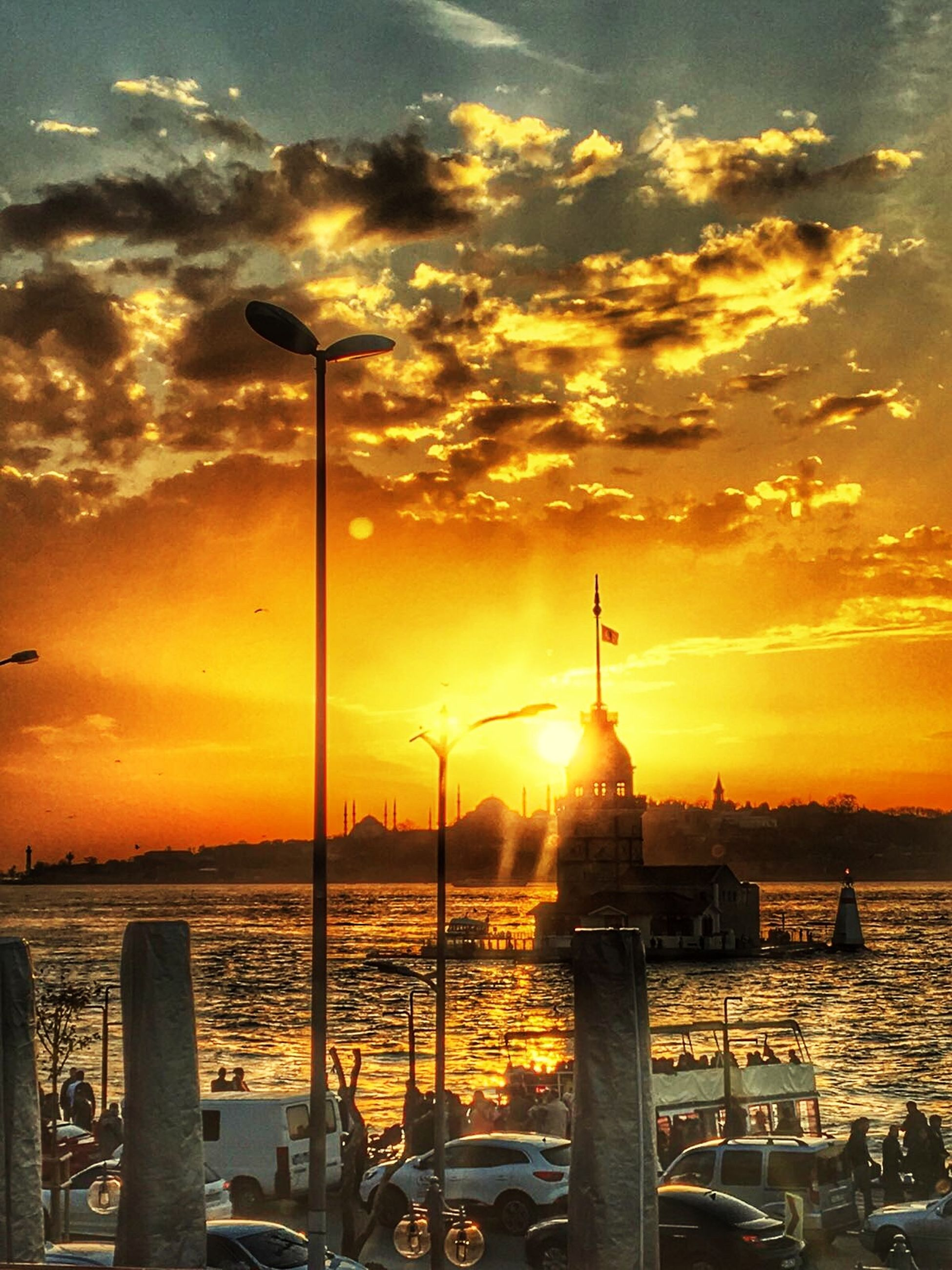 Kızkulesi Sunset Istanbuldayasam Istanbulda1yer Istanbul Turkey Sunset Sky Cloud - Sky Water Orange Color Nature Sea Built Structure Silhouette Scenics Beauty In Nature Outdoors Sun No People Building Exterior Architecture Travel Destinations Day Food Stories