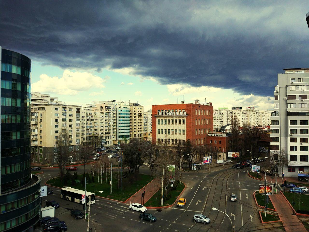 Dark over city