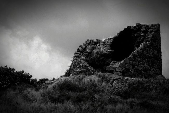 Sardegna Nuraghe Old Ruin Darkness And Light Beauty Of Decay Black And White Ruins Architecture Black And White Photography Sardinia Sardegna Italy  Sardinia