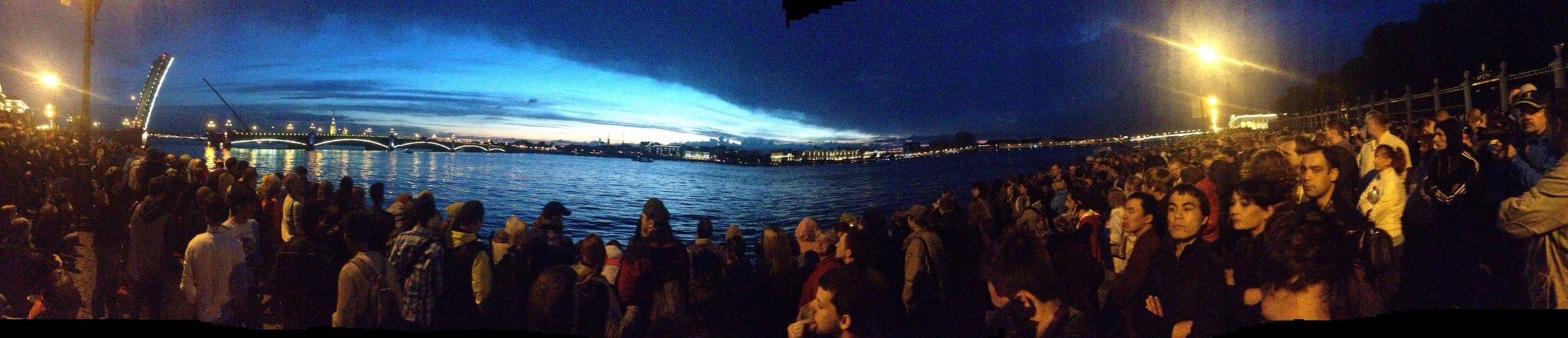 Санкт-Петербург санкт петербург,октябрьская набережная Дворцовый мост белые ночи