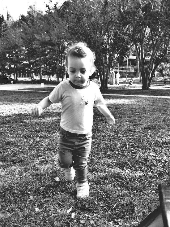 Running In The Park Blackandwhite Monochrome