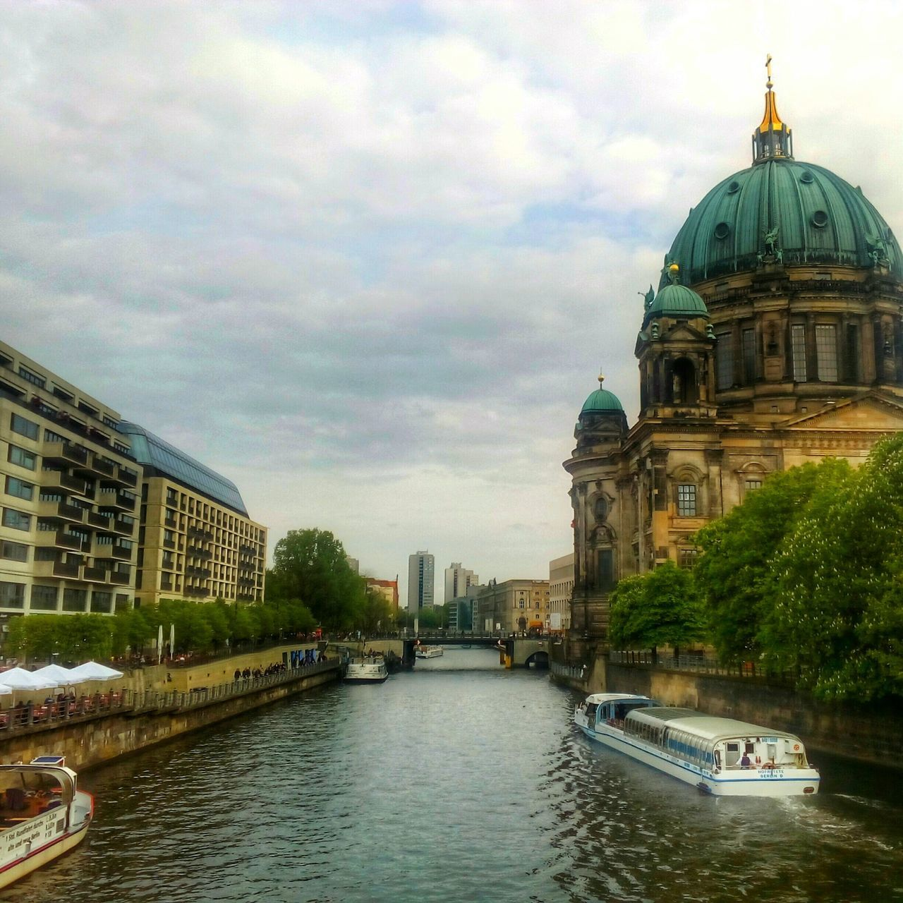 Building Exterior Cloud - Sky Water Travel Destinations Dome River Cityscape Walking Around Visual Poetry EyeEm Best Shots Geometric Lines EyeEmBestPics EyeEm Gallery Walking Around The City  Point Of View Street Life Urban Lifestyle Urbanscape Berlin Life Urban Landscape Berlin Street Photography Leisure Activity Urban Reflections Reflections In The Water Architecture