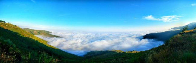 Valhalla Blue Sky Landscape Nature Beauty In Nature Mountain Outdoors No People Roadtrip Car EyeEm Gallery Oneplusone Portugal EyeEm Eye4photography  Panoramic Photography One Man Only Summer2016