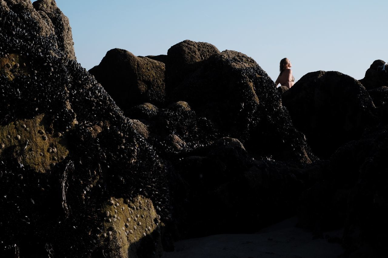 Rock - Object Nature Women Beach Sun Sunbathing