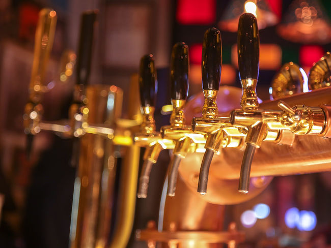 Bar Barmaid Barman Bartender Beer Beer Tap Bokeh Close-up Depth Of Field Drink Drinking Beer Hanging Indoors  Large Group Of Objects Metal Night Night Life Pub Restaurant Still Life