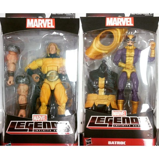 I'm so happy i got these two badasses today.Seriously worth the money i swear,I've been waiting a while to get these two and now ive got them for my collection so happy man :) this is freaking awsome,what a greatday. Marvellegends Thesentry Batroc Hasbro Disney Allfatherwave Baf Collector Collection Figures Figurelife Badass Captainamerica Avengers NewAvengers Infiniteseries Thanos Figurelover Figurecollection Marvel Mcu Heros Comics Nerd WinterSoldier birthday gift toysrus robertreynolds