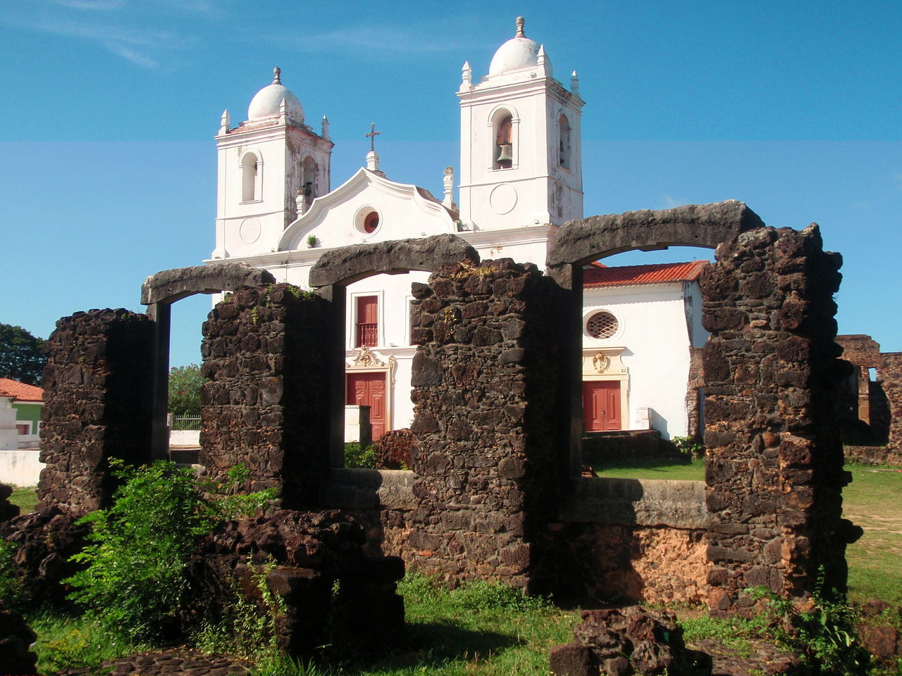 Architecture Bell Tower Blue Building Exterior Built Structure Chapel Church Façade History Lençóis Maranhenses No People Outdoors Place Of Worship Religion Sky Spirituality Stone Material Weathered The Magic Mission Jésuite Architecture Jesuits