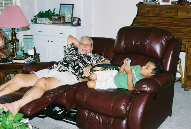 Adult Day Full Length Home Interior Horizontal Human Body Part Indoors  Living Room People Person Real People Senior Adult Senior Women Sitting Togetherness Two People Young Adult