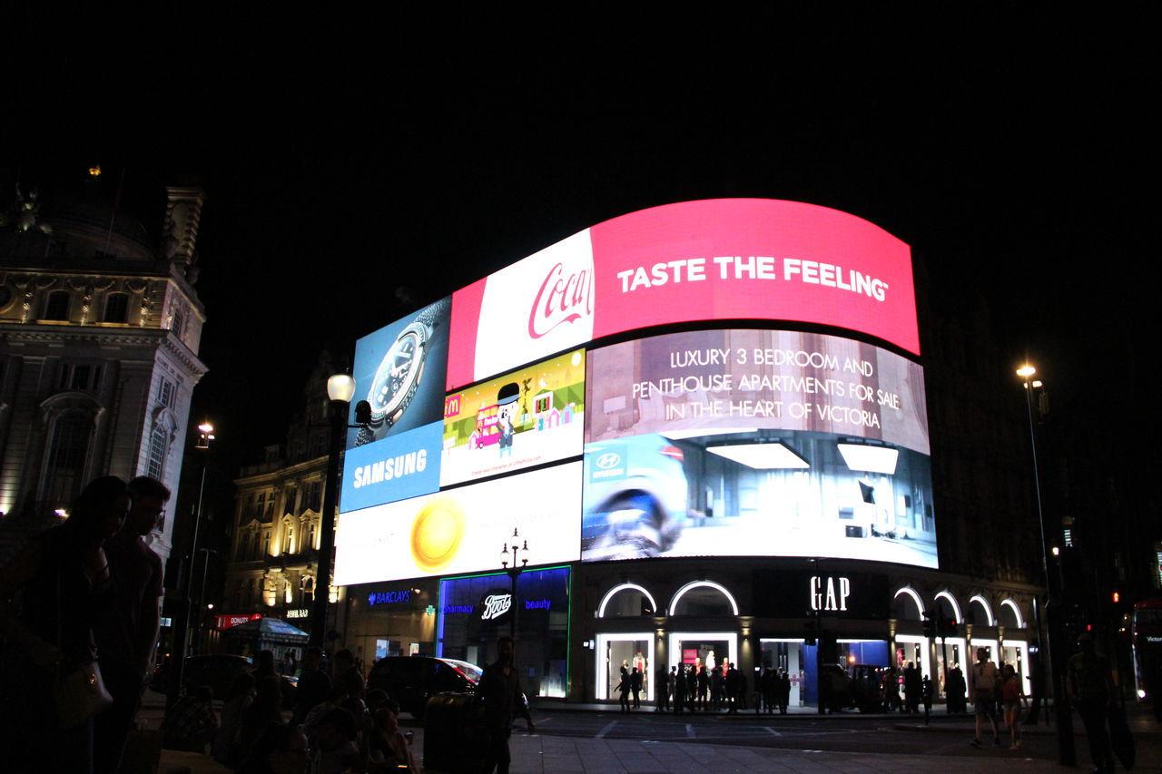 Piccadilly Circus, London, United Kingdom Ads Advertising Billboard Illuminated Illumination LDN London Piccadilly Circus Piccadillycircus Soho Soho London West End West End London