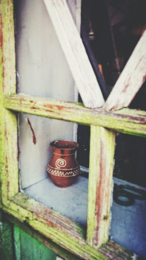 Window Mistery Pot No People Beautiful Pottery Isolated Object Geometric Shape Decorative Pot Decorative Old Ghost House