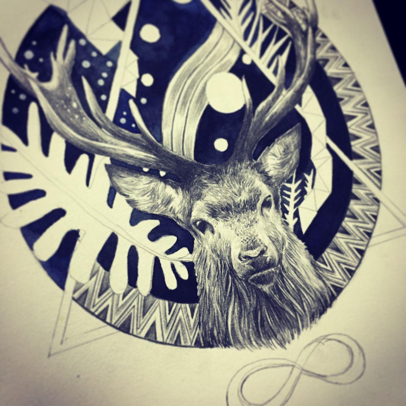 Wip Workinprogress Drawing Pencil Drawing GraphitePencil Deer Drawing