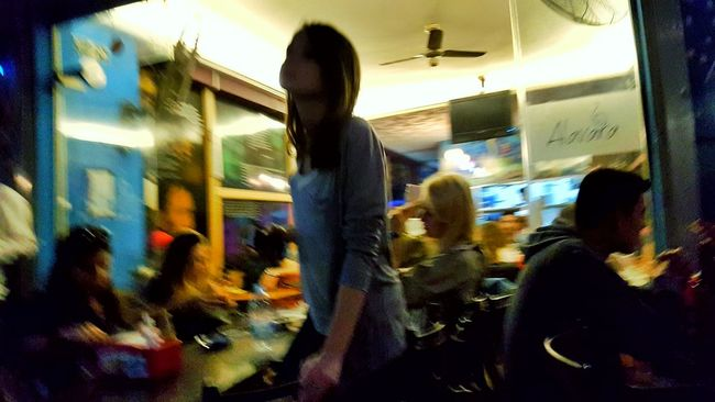 Hanging Out Streetphotography Alsancak Kordon Bars And Restaurants Inarush Girl People Blurred The Street Photographer - 2016 EyeEm Awards Cities At Night