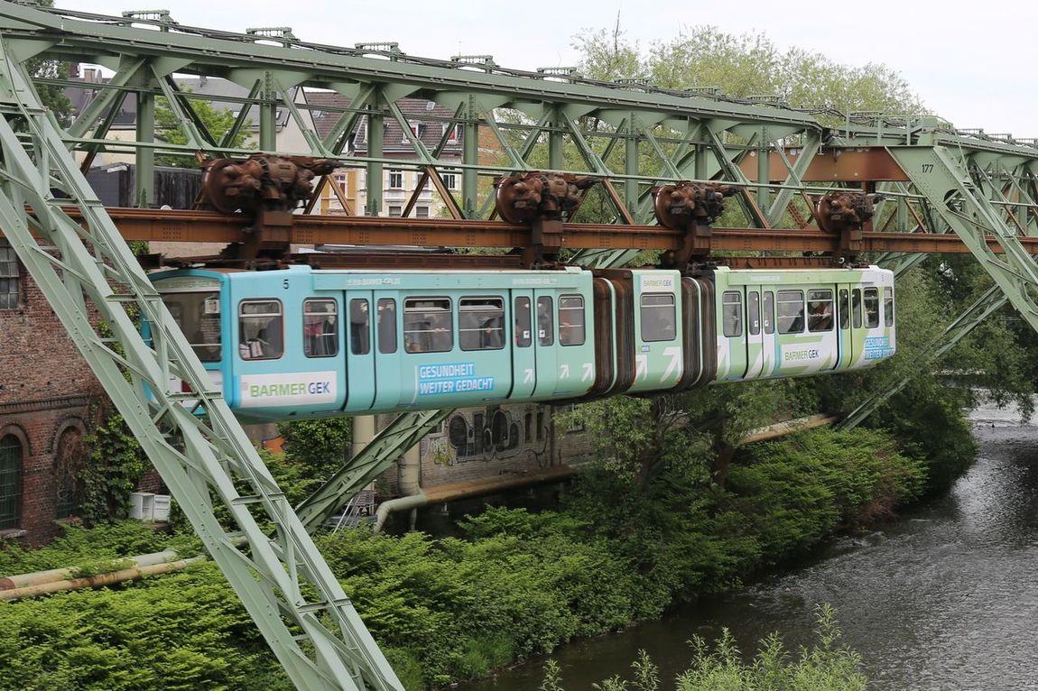 Wuppertaler Schwebebahn 2015 2015  Architecture Bergisches Land Built Structure Day Floating Train Nature No People Outdoors Schwebebahn Schwebebahn Wuppertal Schwebebahnstation Sky Tree Wuppertaler Schwebebahn