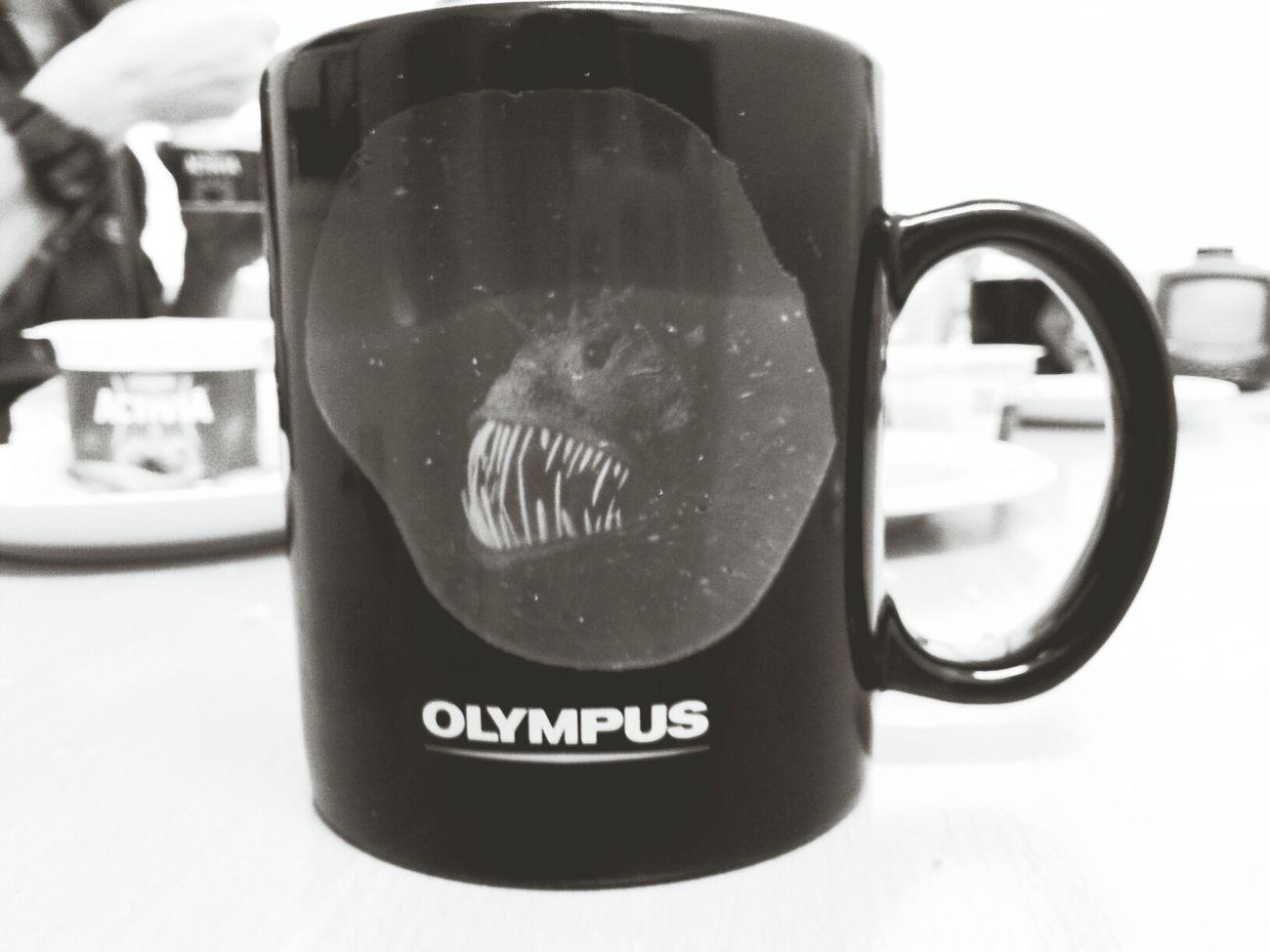 drinking coffee in my monstercup! Workin Hard Coffee Break Late Breakfast
