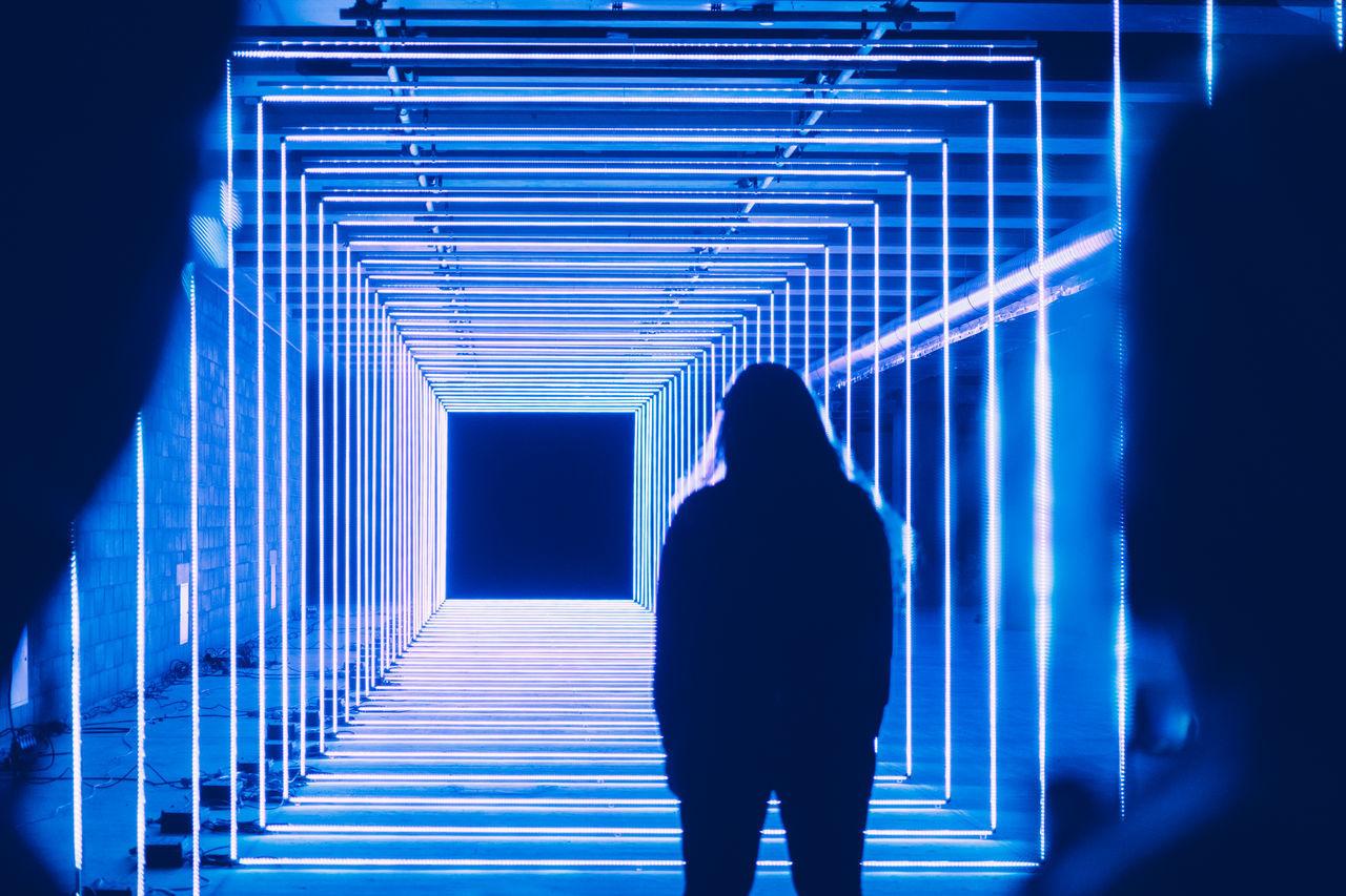 Alien Canary Wharf Cinematic Futuristic Geometric London Neon Payyern Scifi Winter Lights