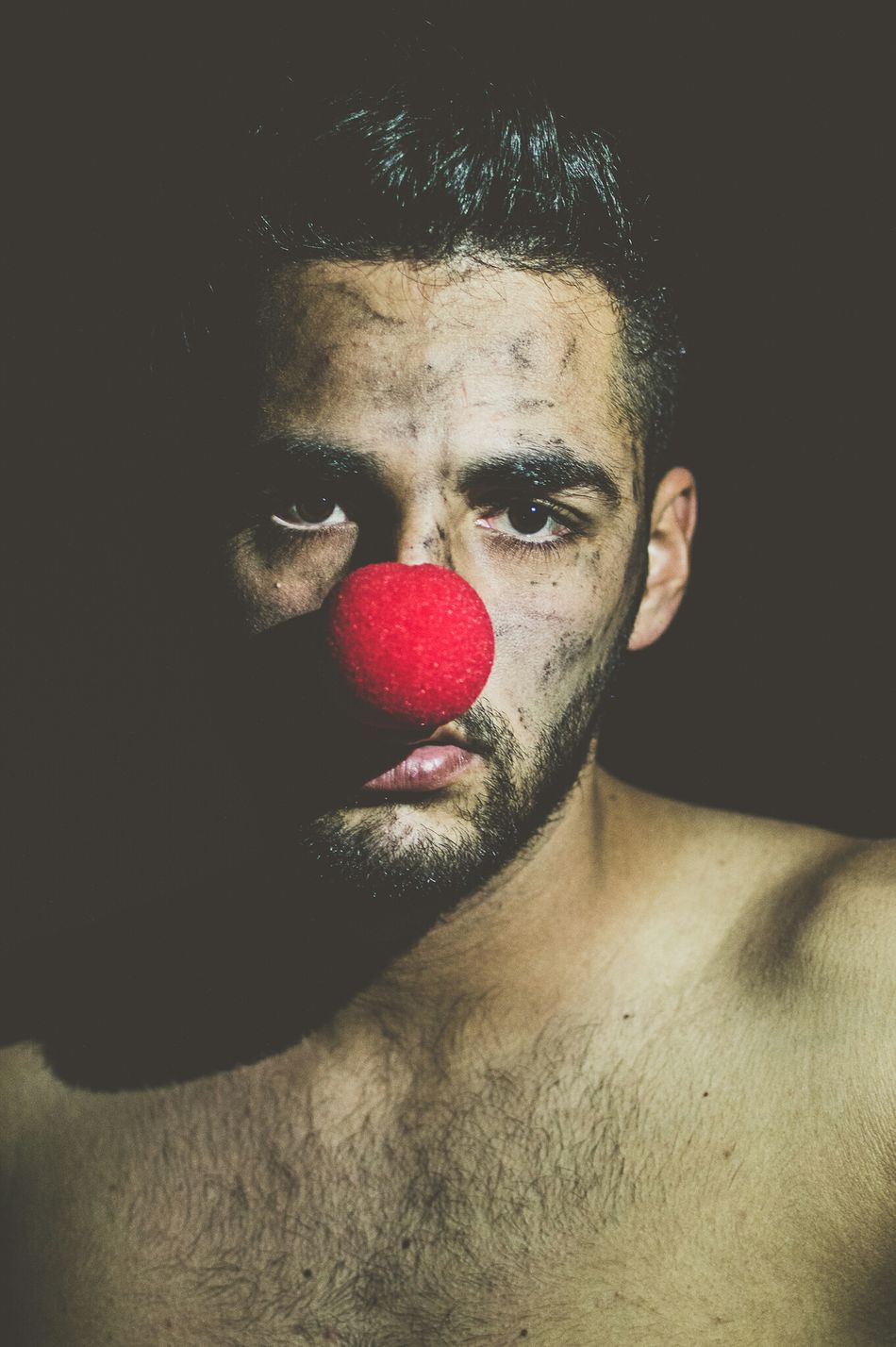 the clown... The Portraitist - 2016 EyeEm Awards Enjoying Life EyeEm Best Shots Eye4photography  EyeEm Gallery Portrait Clown Red Nose Fine Art Hello World Cheese! Nikon Light And Shadow Light Getting Inspired People Men Style Beard Men Fashion Style Getting Creative Eyes Composition Fine Art Photography