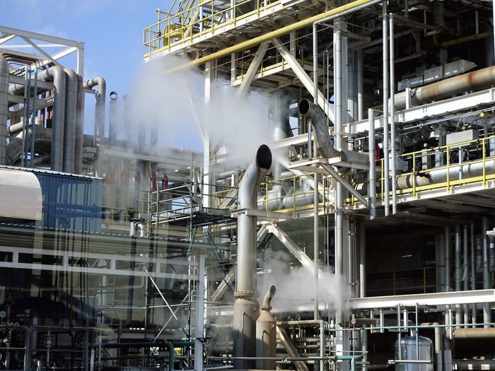 steam came out of chimney Chimney Industry Oil & Gas Steam Built Structure Ducting Factory Hose Pattern