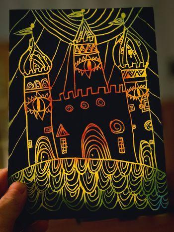 Bild von meiner kleinen Schwester gemalt. Abstrakte Kunst. Sie ist 10 Jahre alt. Text Human Hand Indoors  Close-up Human Body Part One Person Day People EyeEmNewHere