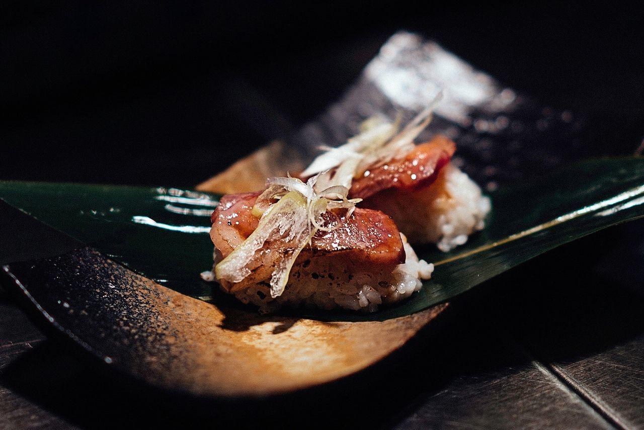 Beef Sushi Japanese Food Japan Tokyo Beef Sushi