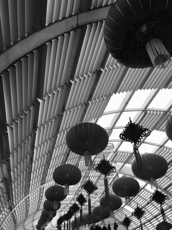 Chinese Hanging Lanterns and Chinese Knots in Shenzhen, China Traditional Culture Paper Lanterns Traditional Chinese Hanging Lanterns Black And White Black And White Photography Chinese Culture l Chinese Knot Knots Shenzhen Chinese Lanterns China Lanterns Chinese