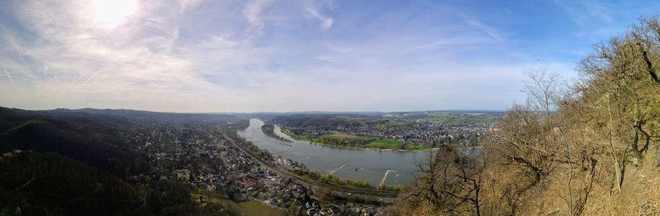 Germany Panorama Panoramic Panoramic Landscape Rhein Rheintal  River View Sunny