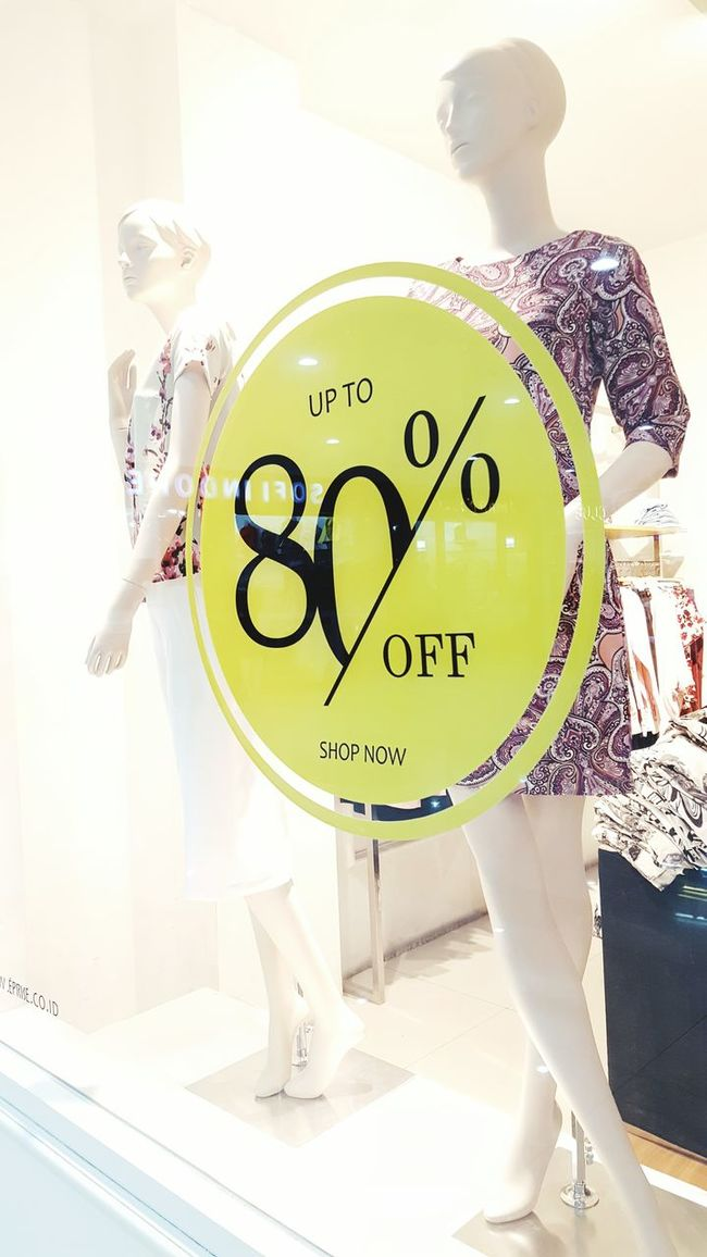 Text Western Script Communication Close-up Text Western Script Communication Close-up Day Person Green Color Discount Sign Signage Price Priceless Yellow Counter Window Shopping Shopping Etalase Clothes Fashion Store