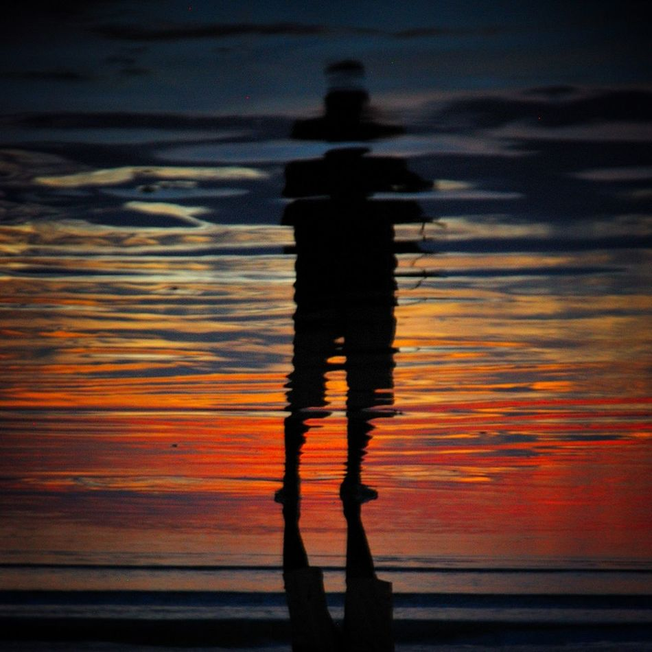 Beautiful stock photos of silhouette, Contemplation, Distorted, Full Length, One Man Only