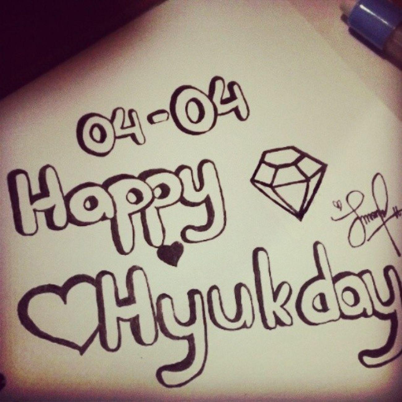 04042014 Happyhyukday happy birthday oppa hyuk ~~^^