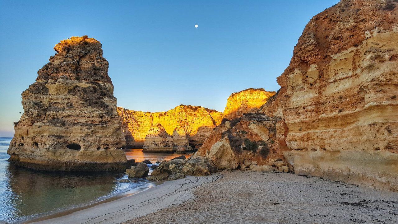 Beautiful stock photos of moon, Algarve, Beach, Lagos - Portugal, Majestic