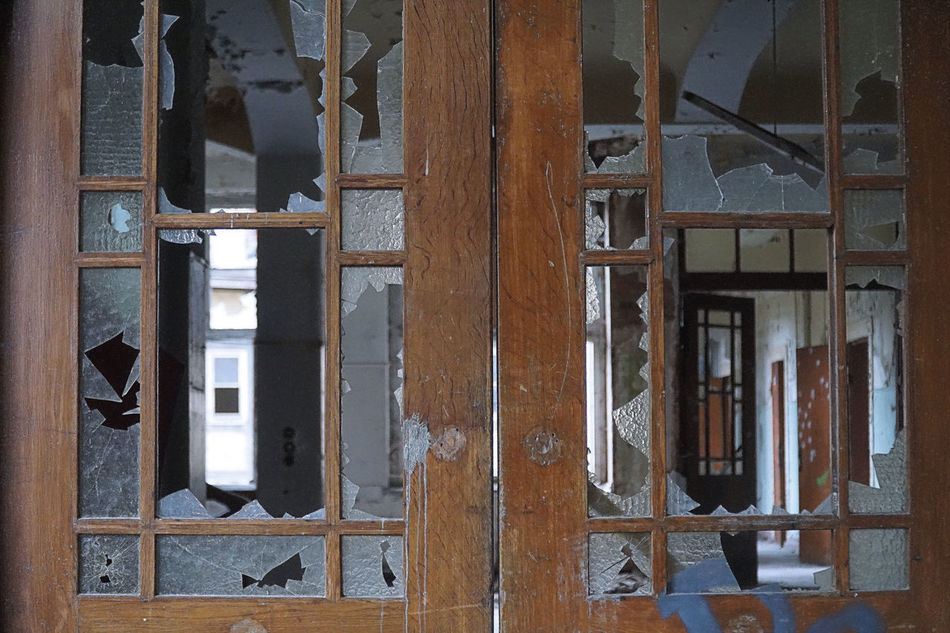 Broken Glass Deterioration Glass Lost Places Obsolete Ruined Run Down Places Window