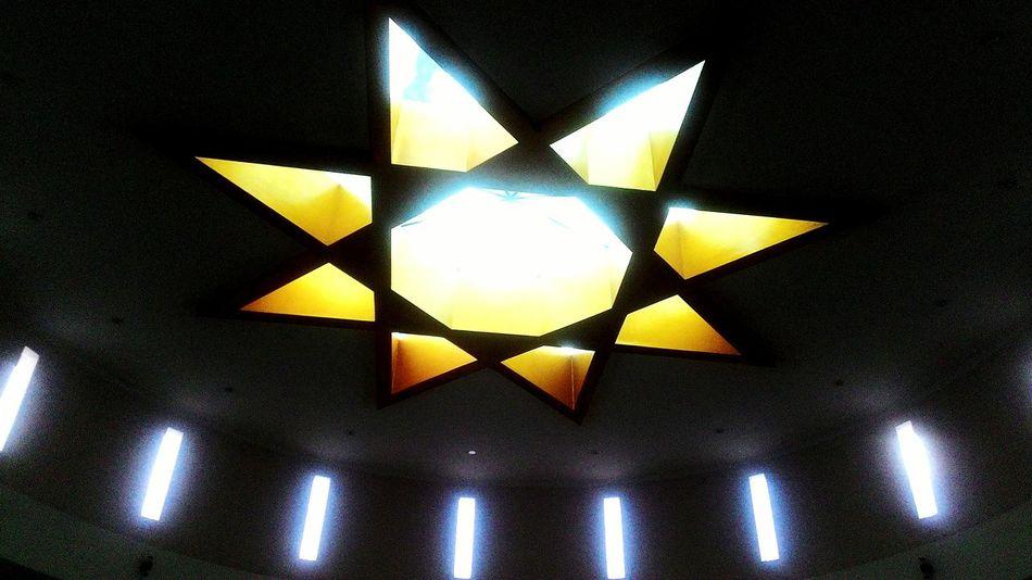 Islamic center yogyokarta indonesia Yogyakarta, Indonesia Mosque Muslim Star Ceiling Yellow Star Symbol Islam Islamic Faith Religion 43 Golden Moments Gold