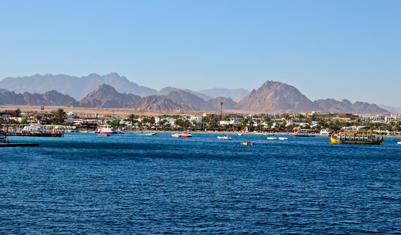 Blue Clear Sky Close To Day Lake Landscape Mountain Mountain Range Nautical Vessel No People Outdoors Sky Water