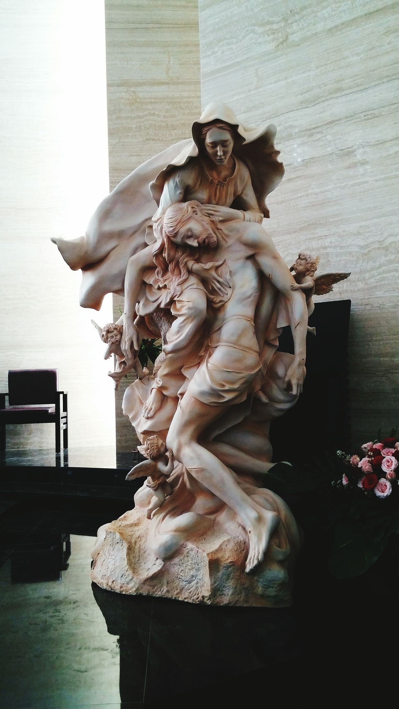Sculpture Holymary Jesus Christ Angels