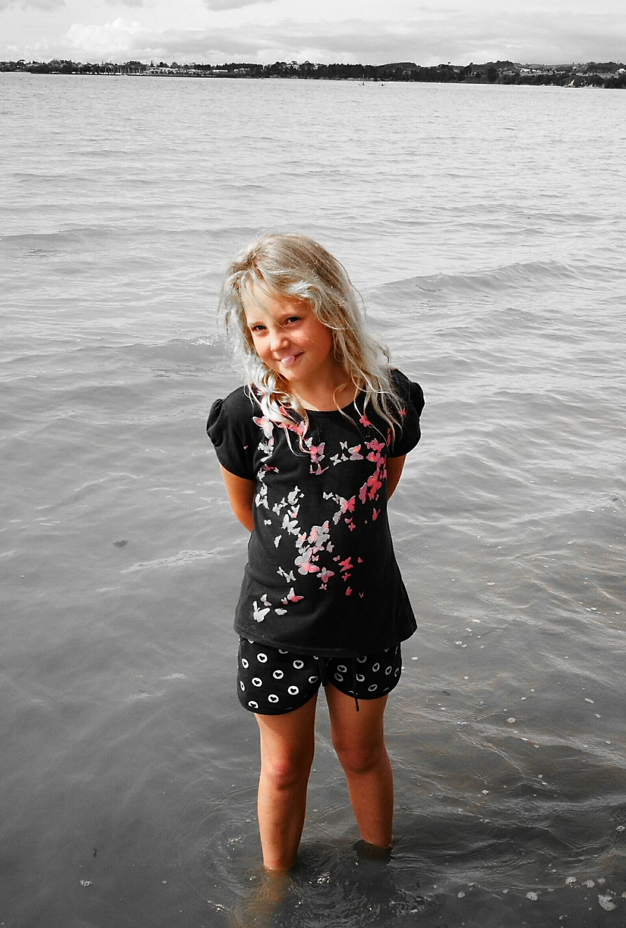 Water beach Blond Hair Sea One Girl Only Beauty Children Only One Person People Nature Day Outdoors Freshness