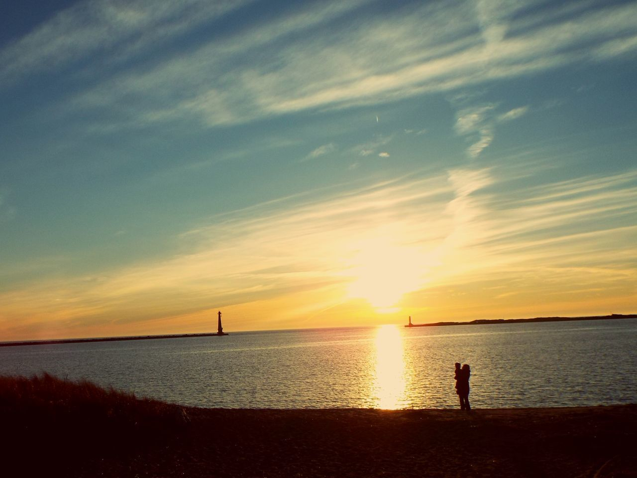 A Mother's Love Sunsetting Water Lake Beach Sky Mother And Child Sweet Moments Love ♥ Shared Hearts Two Souls One Heart March Showcase Check This Out Capture The Moment Learn & Shoot: Balancing Elements Landscapes With WhiteWall