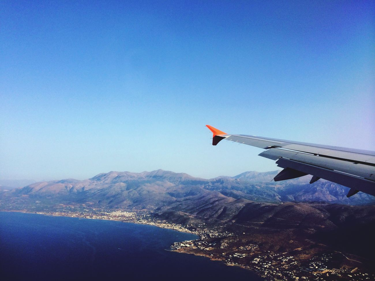 ?✈️ From An Airplane Window Sea Creta Summer In Love With It Sunny Day Sun Enjoying Life