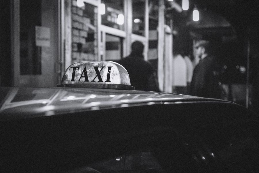Car Night Transportation Outdoors The Week On EyeEm Fujifilm Monochrome Blackandwhite Photography Check This Out Black And White Streetphotography Street Photography Lifestyles People Real People Tbilisi Georgia Urban Travel Men Photo Taxi Nightphotography Black & White Friday