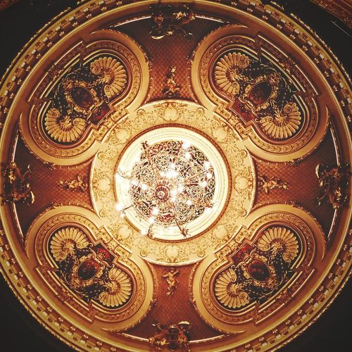 Ornate Close-up Wealth No People Gold Colored Full Frame Indoors  Backgrounds Day Architecture Old Town Luxury Comfortable Built Structure Cultures Musical Theater  Shiny Auditorium Opéra Lighting Equipment Stage Theater Ceiling Unbalanced  Symetry Chandelier