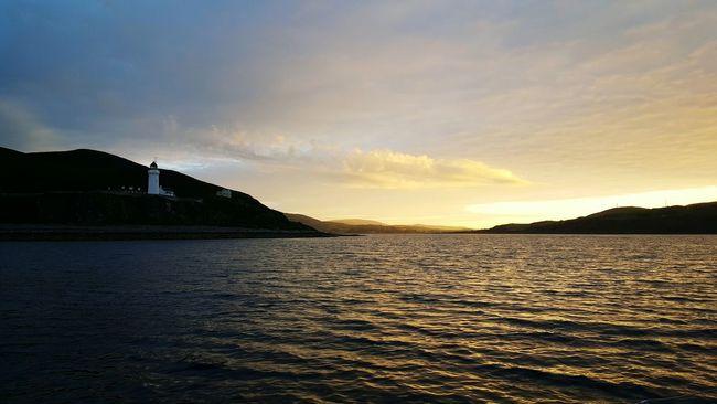 Campbeltown Lighthouse Island Skyporn Sunset EyeEm Best Shots - Sunsets + Sunrise Tim Bailie Sky And Sea Phone Photography Mull Of Kintyre Sailing Scotland Water Beautiful Dailyphoto EyeEm Best Shots