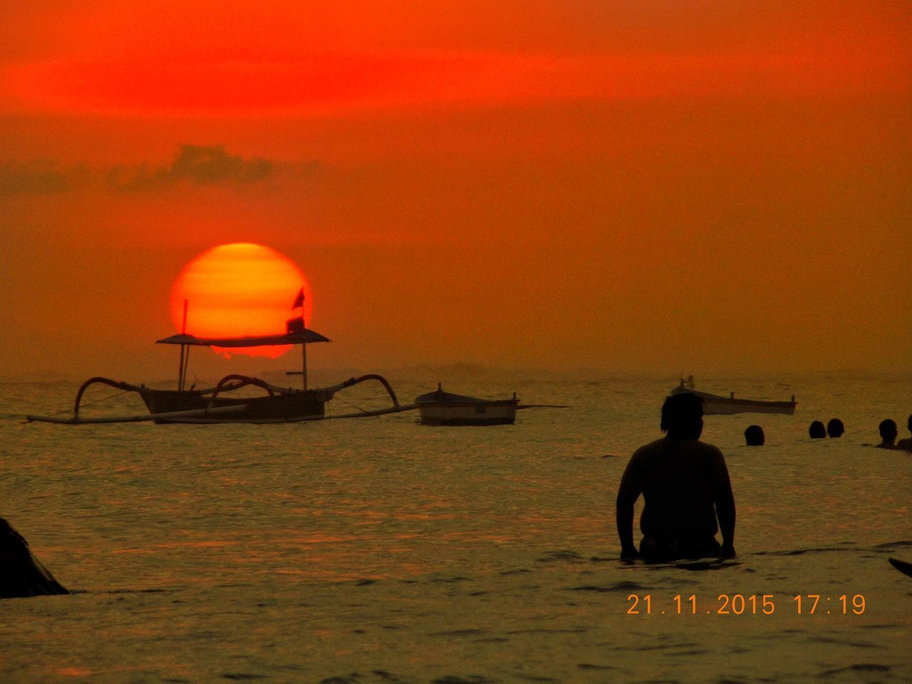 Sunset in bali Sunset Silhouette Outdoors Day Nature Animal Themes No People