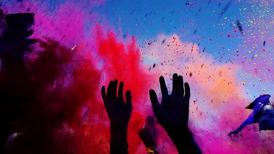 Beautiful stock photos of party, multi colored, celebration, silhouette, real people