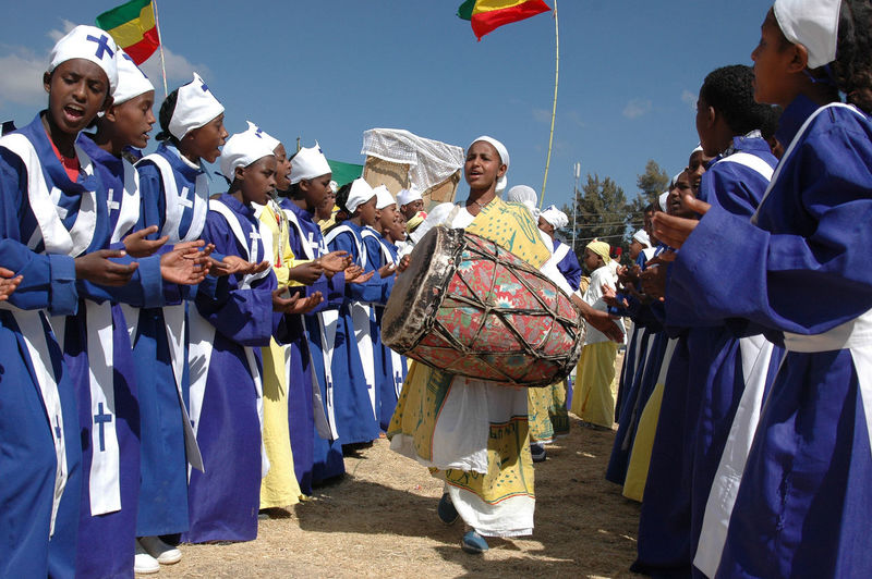 Celebration Choir  Christian Christianity Clapping Ethiopia Ethiopian Orthodox Festival Music Singing