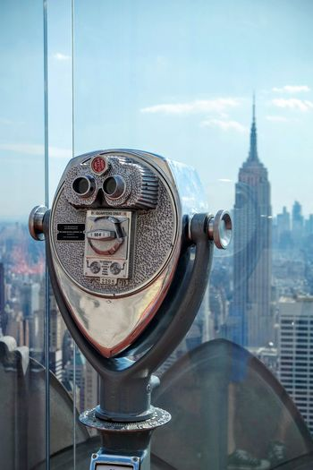 City Cityscape Architecture Skyscraper Travel Destinations Coin-operated Binoculars Sky Day No People Outdoors Close-up Manhattan New York New York City Empire State Building Topoftherock Top Of The Rock NYC Rockefeller Center Rockefeller Center, New York