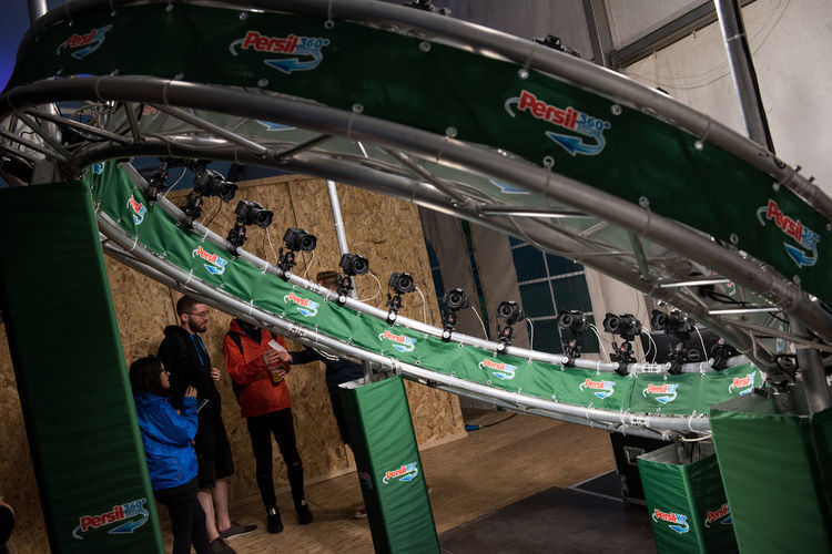 BONTIDA, ROMANIA - JULY 15, 2017: People posing in a photo cabin owned by Persil and making 360 degree panoramic photograph, animated GIF at Electric Castle festival 360 360 Panorama 360camera 360° 360° Panoramic Views 360° Pictures  3D Circle DSLR Moment Photoshoot Tech Animated Dslrphotography Festival Gif People Persil Photo Photo Cabin Photographer Photographing Photography Real People Technology